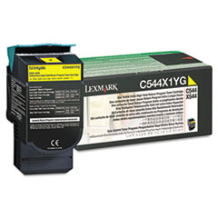 C544X1YG Extra High-Yield Toner, 4000 Page-Yield, Yellow