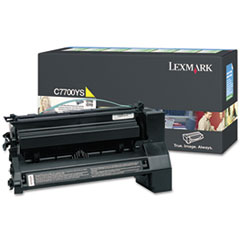 C7700YS Toner, 6000 Page-Yield, Yellow