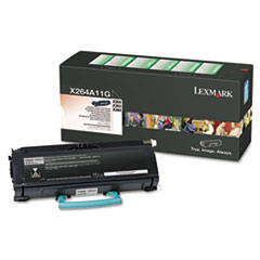 X264A11G Toner, 3500 Page-Yield, Black