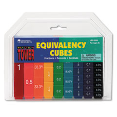 Fraction Tower Activity Set, Math Manipulatives, for Grades 1-6 LRNLER2509
