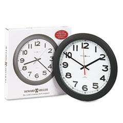 "Norcross Auto Daylight-Savings Wall Clock, 12-1/4"", Black, 1 AA MIL625320"