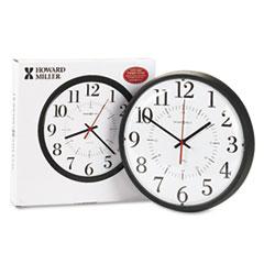 """Alton Auto Daylight Savings Wall Clock, 14"""", Black MIL625323"""