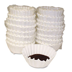Basket Style Coffee Filters, Paper, 12 to 15 Cups, 800/Carton MLA620014