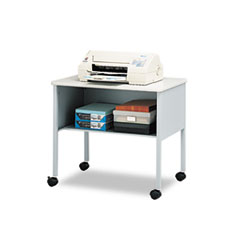 "Mayline ""Mobile Machine Stand, One-Shelf, 30w x 21d x 26-1/2h, Gray"" at Sears.com"