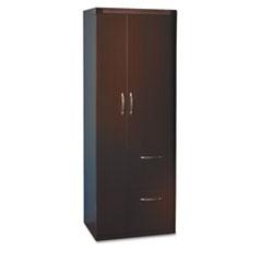 Aberdeen Series Personal Storage Tower, Box 2 Of 2, 24w x 24d x 68-3/4h, Mocha MLNAPST2LDC
