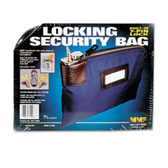 SEVEN-PIN SECURITY/NIGHT DEPOSIT BAG W/2 KEYS, NYLON,