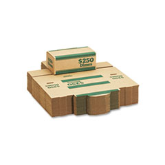 Corrugated Cardboard Coin Transport Box, Lock, Green, 50 Boxes/Carton MMF240141002