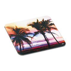 "3M Sunrise Design Mouse Pad - 8"" x 9"" Dimension - Foam"