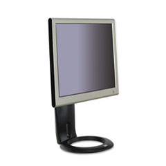 Easy-Adjust LCD Monitor Stand, 8 1/2 x 5 1/2 x 8 1/2 to 13 1/2, Black