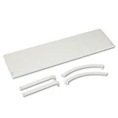 Versé Panel System Hanging Shelf, 48w x 12-3/4d, Gray BSXVSH48GYGY