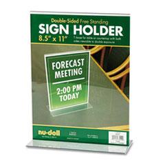 Acrylic Sign Holder, 8 1/2 x 11, Clear NUD38020