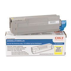43324401 High-Yield Toner, 5000 Page-Yield, Yellow