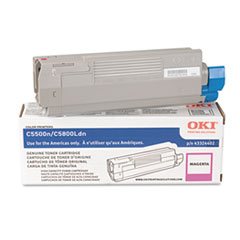 43324402 High-Yield Toner (Type C8), 5000 Page-Yield, Magenta