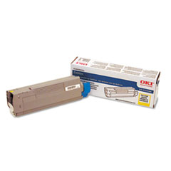 43324466 Toner, 4000 Page-Yield, Yellow