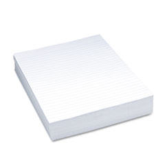 "Composition Paper, 3/8"" Ruling, 16 lbs., 8-1/2 x 11, White, 500 Sheets/Pack"