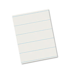Ruled Newsprint Paper, 30 lbs., 8-1/2 x 11, White, 500 Sheets/Pack