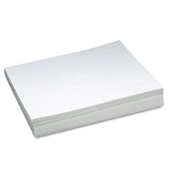 Skip-A-Line Ruled Newsprint Paper, 30 lbs., 11 x 8-1/2, White, 500 Sheets/Pack