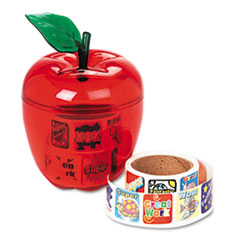 Pacon® Stickers in Plastic Apple, Reward, 600 Stickers/Pack