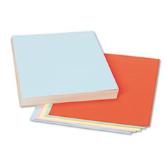 Assorted Colors Tagboard, 12 x 9, Blue/Canary/Green/Orange/Pink, 100/Pack