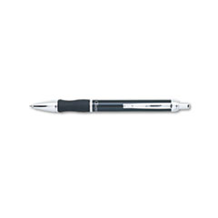 Client Retractable Ballpoint Pen, 1mm, Black/Chrome Accents Barrel, Black Ink