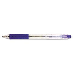 R.S.V.P. RT Retractable Ballpoint Pen, 1mm, Clear Barrel, Blue Ink, Dozen