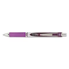 EnerGel RTX Retractable Liquid Gel Pen, .7mm, Black/Gray Barrel, Violet Ink