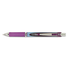 EnerGel RTX Retractable Liquid Gel Pen, .7mm, Needle, Bk/Gray Barrel, Violet Ink