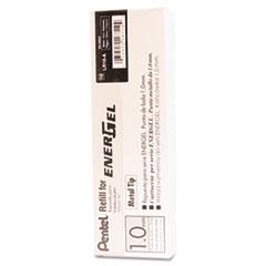 Refill for Pentel EnerGel Retractable Liquid Gel Pens, Bold, Black Ink