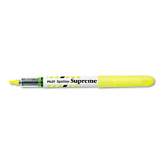 Spotliter Supreme Highlighter, Chisel Tip, Fluorescent Yellow Ink, Dozen