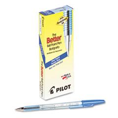 Better Ball Point Stick Pen, Blue Ink, .7mm, Dozen