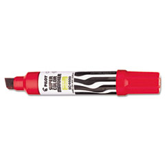Jumbo Refillable Permanent Marker, Chisel Tip, Red