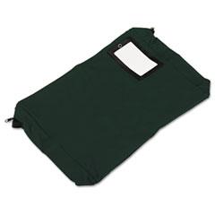 Expandable Dark Green Transit Sack, 18w x 4d x 14h