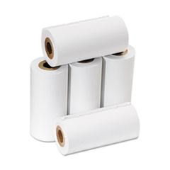 "One Ply Adding Machine/Calculator Rolls, 2 1/4"" x 17 ft, White, 5/Pack"