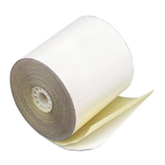"""Paper Rolls, Credit Verification, 2 1/4"""" x 70 ft, White/Canary, 50/Carton"""