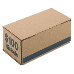 Corrugated Cardboard Coin Storage w/Denomination Printed On Side, Blue