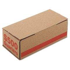 Corrugated Cardboard Coin Storage w/Denomination Printed On Side, Orange