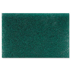 Heavy Duty Scour Pad, Green, 6 x 9, 15/Carton PMP186