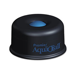 "AquaBall Floating Ball Envelope Moistener, 1 1/4"" x 1 1/4"" x 5 3/8"", Black, Blue"