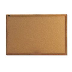 Classic Cork Bulletin Board, 36 x 24, Oak Finish Frame