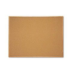 Classic Series Cork Bulletin Board, 48 x 36, Oak Finish Frame