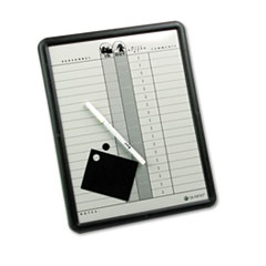 MotivationUSA * Employee In/Out Board, Porcelain, 11 x 14, Gray, Black Aluminum Frame at Sears.com