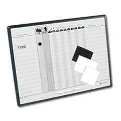 COU ** Magnetic Employee In/Out Board, Porcelain, 24 x 18, Gray/Black, Alumin at Sears.com
