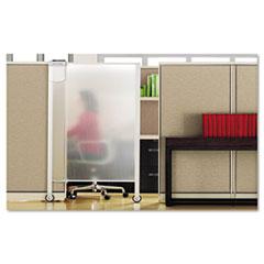 Premium Workstation Privacy Screen, 38w x 65h, Translucent Clear QRTWPS2000