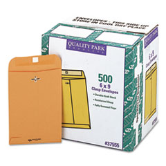 Clasp Envelope, #55, 6 x 9, 28lb, Brown Kraft, 500/Carton