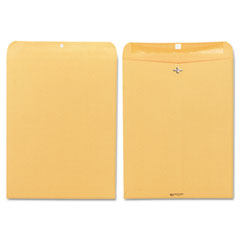 Clasp Envelope, 12 x 15 1/2, 32lb, Brown Kraft, 100/Box