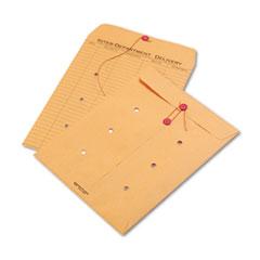 Brown Kraft Kraft String & Button Interoffice Envelope, 10 x 13, 100/Carton