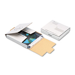 Corrugated CD/DVD Mailer, 5 3/4 x 5 3/4, White, Recycled
