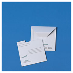 Redi-File Disk Pocket Mailer, 6 x 5-7/8, Recycled, White, 10/Pack