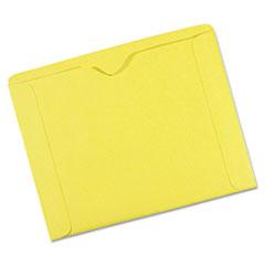 File Jackets, 9 1/2 x 11 3/4, 3 Point Tag, Cameo Buff, 100/Box