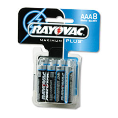 Alkaline Batteries, AAA, 8/Pack